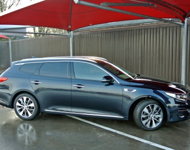 The Kia Optima shows its better engineered SW dimensions